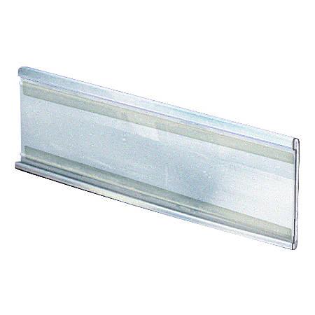 "Azar Displays PVC Horizontal Adhesive-Back Nameplates, 5""H x 11""W x 3/8""D, Clear, Pack Of 10 Nameplates"