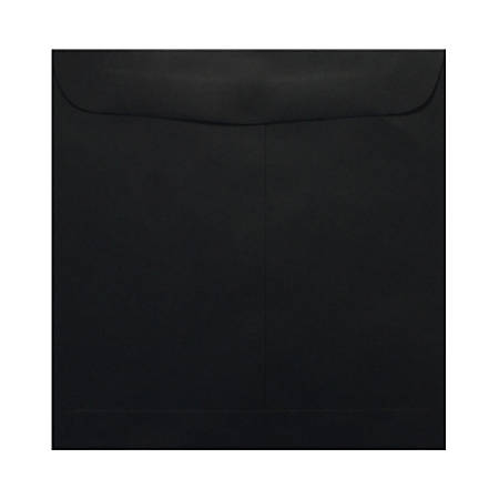 """LUX Square Envelopes With Moisture Closure, 9 1/2"""" x 9 1/2"""", Midnight Black, Pack Of 50"""