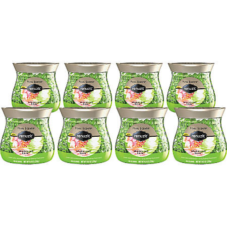 Dial Renuzit Pearl Scents Scented Bead Air Fresheners, Sparkling Rain, 9 Oz, Pack Of 8