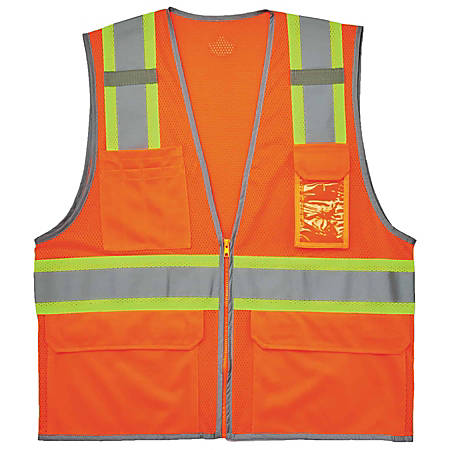 Ergodyne GloWear Safety Vest, 2-Tone, Type-R Class 2, Large/X-Large, Orange, 8246Z