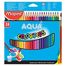 Helix Watercolor Pencils Assorted Barrel 24