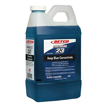 Betco Corp FastDraw 23 Deep Blue Concentrate Glass Cleaner, 67.7 Oz