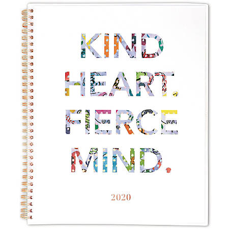 """Cambridge Fierce Customizable Weekly/Monthly 8-1/2"""" x 11"""" Planner, Multicolor, January to December 2020, 1272-901"""