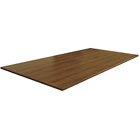 "Lorell® Essentials Conference Rectangle Table Top, 2-Piece, 96""W, Walnut"