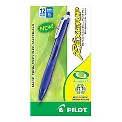 Pilot Rexgrip BeGreen Retractable Ballpoint Pens