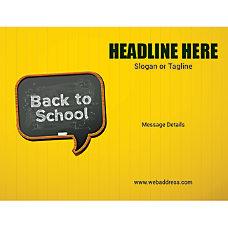 Custom Flyer Horizontal Back To School