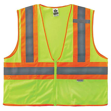 Ergodyne GloWear® Safety Vest, 2-Tone 8230Z, Type R Class 2, Small/Medium, Lime