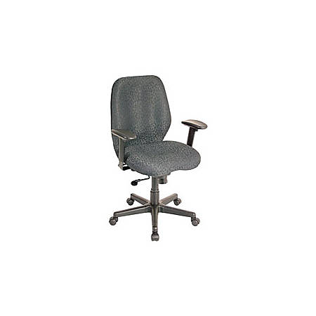 "Eurotech Multifunction Task Chair, 40""H x 27 1/2""W x 24""D, Black Frame, Charcoal Fabric"