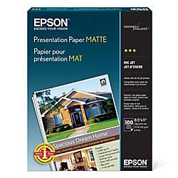 Epson® Presentation Paper, Matte, 8 1/2