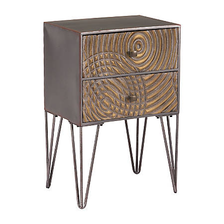 Zuo Modern Circulos End Table, Rectangular, Brown/Black