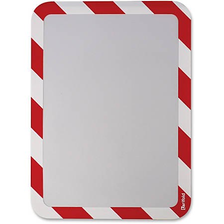 "Tarifold Magneto Magnetic High-Visibility Insertable Safety Frame - 6 / Pack - 10.5"" Width x 12.8"" Height - Rectangular Shape - Magnetic - White, Red"