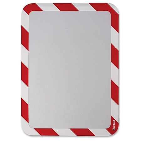 "Tarifold High-visibility Insertable Safety Frame - 6 / Pack - 10.3"" Width x 14.5"" Height - Rectangular Shape - Red Print/Message Color - Self-adhesive, Magnetic - White, Red"