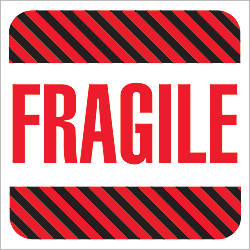 Tape Logic Preprinted Labels DL1069 Fragile