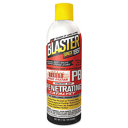 Blaster PB Penetrating Liquid Lubricant/Rust Inhibitor Catalysts, 8 Oz Can, Pack Of 12 Cans