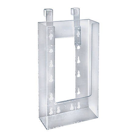 "Azar Displays Hanging Trifold Brochure Holders, 7-3/4""H x 4-3/4""W x 1-1/2""D, Clear, Pack Of 10 Holders"