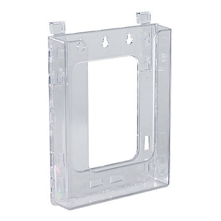 "Azar Displays Hanging Bifold Brochure Holders, 8-1/2""H x 6-5/8""W x 1-1/2""D, Clear, Pack Of 10 Holders"