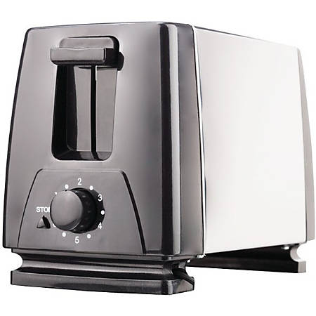 Brentwood Toaster - Toast - Black, Stainless Steel