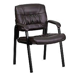 Flash Furniture Leather Side Chair BrownBlack