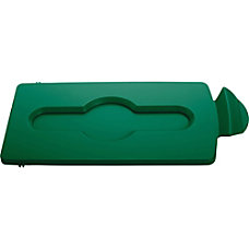 Rubbermaid Commercial Slim Jim Green Closed