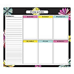 """Office Depot® Brand Mouse Pad Weekly Desk Calendar, 9"""" x 8"""", Paper Flowers, Undated"""