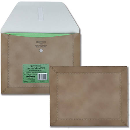 """Quality Park 1-1/4"""" Expanding Durable Document Carriers - Letter - 8 1/2"""" x 11"""" Sheet Size - Paper - Brown - Recycled - 1 Each"""