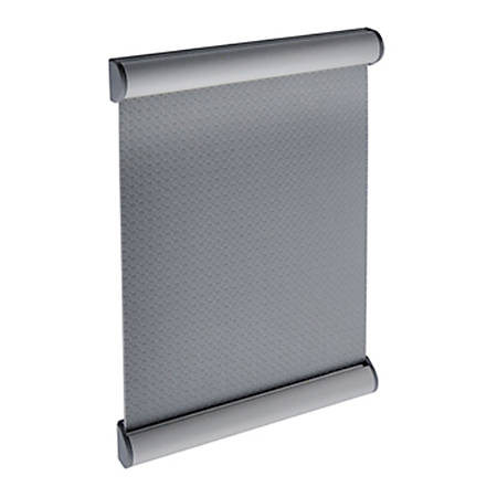 "Azar Displays Vertical Door Sign Metal Snap Frames, 6""H x 4""W x 1/2""D, Silver, Pack Of 10 Frames"