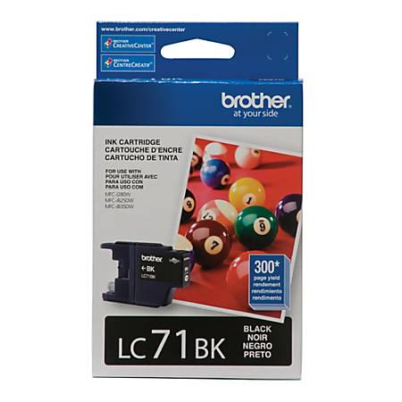 Brother® LC71BK Black Ink Cartridge