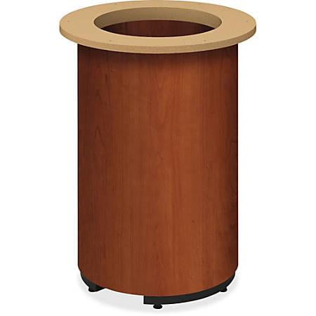 HON Preside Laminate Cylinder Base - Cylindrical Base - Cognac, High Pressure Laminate (HPL) - Plywood