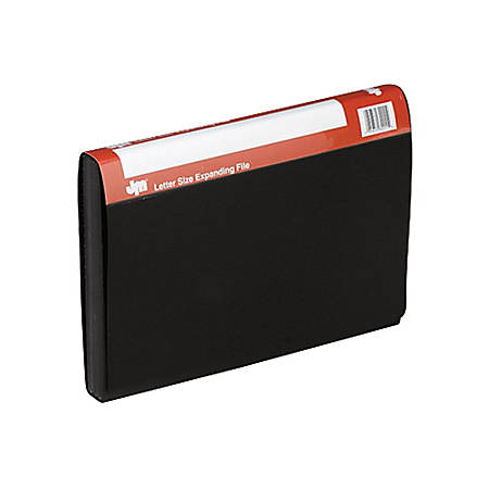"Pendaflex 13 Pocket Expanding Files - Letter - 8 1/2"" x 11"" Sheet Size - 4"" Expansion - 13 Internal Pocket(s) - Polypropylene - Black - 1 Each"