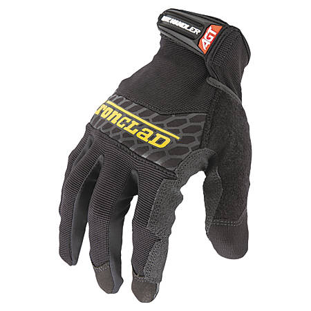 Ironclad Silicone Box-Handler Gloves, Medium, Black, Pair