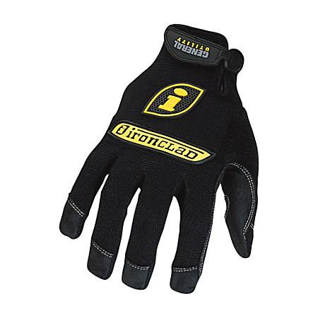 Ironclad General Utility Spandex Gloves, 1 Pair, Black, Medium