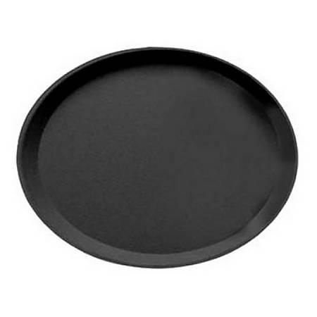"Cambro Camtread Oval Serving Tray, 29"" x 23"", Black"
