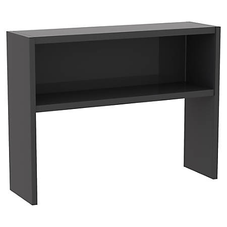 """WorkPro® Modular 48""""W Stack On-Hutch, Charcoal"""