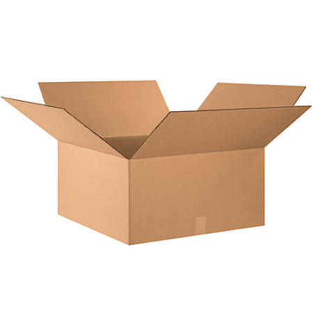 """Office Depot® Brand Corrugated Boxes, 14""""H x 26""""W x 26""""D, 15% Recycled, Kraft, Bundle Of 10"""