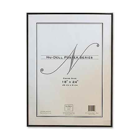 """Nu-Dell Metal Poster Frame, 18"""" x 24"""", Black"""
