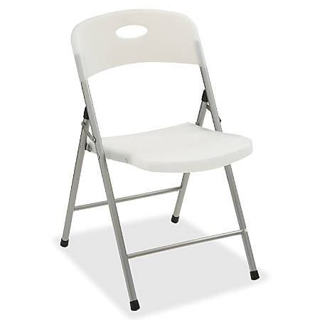 Lorell® Translucent Folding Chair, Clear, Set Of 4