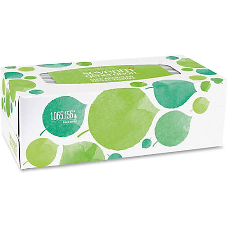 Seventh Generation 2-ply Facial Tissue Flat Box - 2 Ply - White - Paper - Hypoallergenic, Non-chlorine Bleached, Dye-free, Fragrance-free - For Face - 175 Quantity Per Box - 36 / Carton