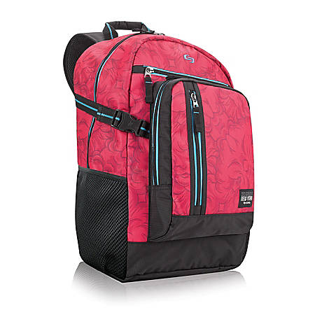 """Solo Pop 15.6"""" Laptop Backpack, Pink"""