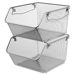 Lorell Mesh Stacking Storage Bin 2