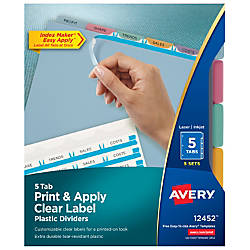 Avery Print Apply Clear Label Translucent