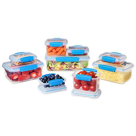 Sistema® 18-Piece Food Storage Set, Blue/Clear