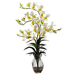 Nearly Natural 23 H Polyester Dendrobium
