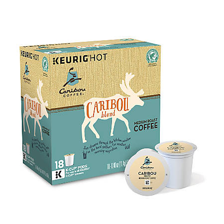 Caribou Coffee Caribou Blend Coffee K-Cup® Pods, 0.40 Oz, Box Of 18 Pods