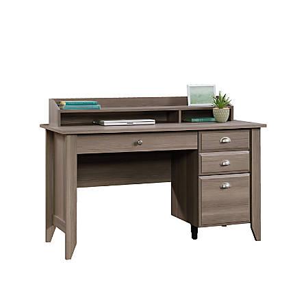Sauder® Shoal Creek Desk With Organizer Hutch, Diamond Ash