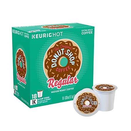 The Original Donut Shop Coffee K-Cup Pods, Box Of 18 Pods