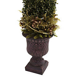 Nearly Natural Plastic Mixed Golden Boxwood