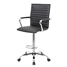 Boss Drafting Stool BlackChrome B16533C BK