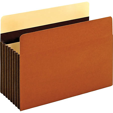 "Pendaflex Heavy-duty Accordion File Pockets - Legal - 8 1/2"" x 14"" Sheet Size - 1600 Sheet Capacity - 7"" Expansion - 24 pt. Folder Thickness - Redrope - Brown - 7.68 oz - Recycled - 5 / Box"