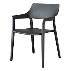 Lorell Plastic Stack Chairs With Wood