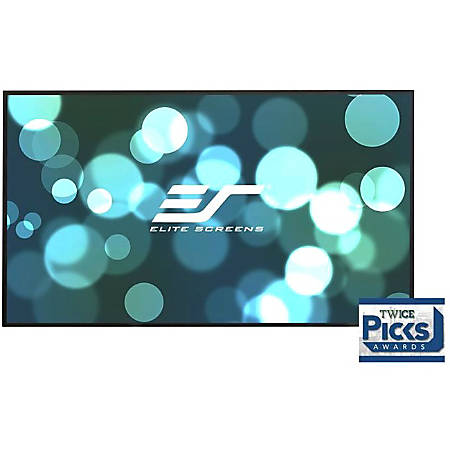 Elite Screens Aeon - 100-inch Diagonal 16:9, 8K 4K Ultra HD Ready Ceiling Light Rejecting and Ambient Light Rejecting EDGE FREE Fixed Frame Projector Screen, CineGrey 3D? Projection Material, AR100DHD3""